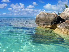 Come On In The Water's Fine (Sanibeljac) Tags: ocean sea sky water swim island islands rocks aqua snorkel 6ws princess sixwordstory clear tropical bahamas cay eleuthera wishiwerethere 50earthfaves