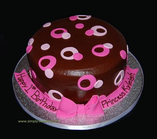 Pink Sassy Circles 1st bday Kyleigh