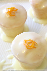 Little yoghurt and orange blossom cakes