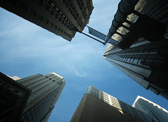 (xNstAbLe) Tags: sanfrancisco california blue sky usa building glass vertical skyscraper silver buildings neck trafficlight office downtown skyscrapers turquoise district large officebuilding x business chrome tall build grattacielo finance wideanglelens 10faves lowangleview platinumphoto directlybelow excapture betterthangood exteriorstructure cinemafoto lookingupmodern