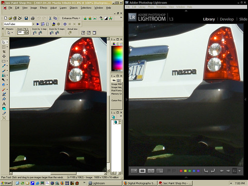 PSP Lightroom comparison