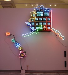 """Electronic Superhighway"" By: Nam June Paik [CP] 02 (Dan Dan The Binary Man) Tags: portrait june dc washington districtofcolumbia gallery district columbia national electronic npg superhighway nam paik electronicsuperhighway smithsoniansnationalportraitgallery smithsonians continentalusalaskahawaiinam"