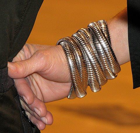 Jewellery on Obama volunteer's hand