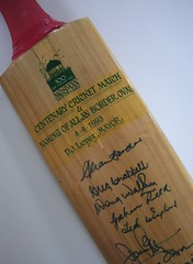 Cricket bat from Mosman Library Display