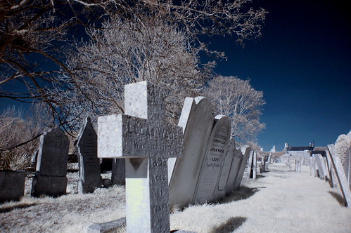 King's Cliffe Churchyard, Northamptonshire, Digital Infrared