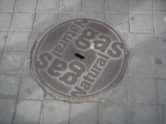 Schachtdeckel Gas