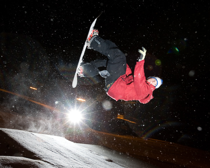 Mark Watson goes inverted in snow