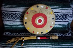 Blackfeet Traditional Drum (Virginia Naa'pia'ki' Smith Eisele) Tags: studio ways naative