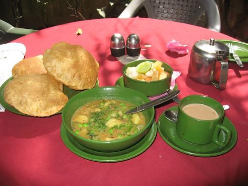 First breakfast in Nepal
