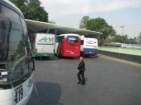 Bus station in Mexico City