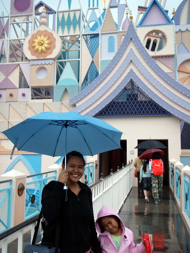 Going into the It's a Small World ride