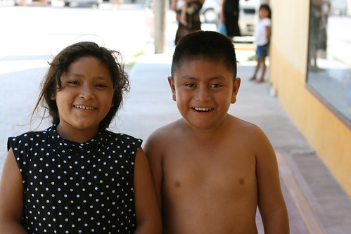 Cute Mexican Kids, Akumal, Mayan Riviera, Mexico