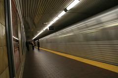 Standing Behind the Yellow Platform Line at  King Subway Station, Toronto (Tony Lea) Tags: street toronto ontario canada motion blur station yellow underground subway king ttc platform tony line timeexposure transit lea anthony commuting yongestreet mass kingstreet slowshutterspeed torontotransit kingstation anawesomeshot tonylea anthonylea