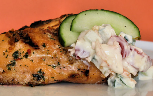 Grilled Salmon with Raita 3549