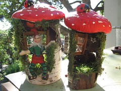 gnome home 005 (tessimal1) Tags: red house home mushroom star gnome buttons elf fairy ladybug artdoll woodhouse dollhouse birchbark ecofriendly fairyhouse natureart minihouse fairyring gnomehome miniaturedoll mushroomhut naturetoy posabledoll