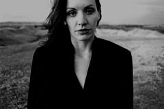 Christina In The Badlands (Al Maleson) Tags: blackandwhite woman southdakota badlands plusx canonf1