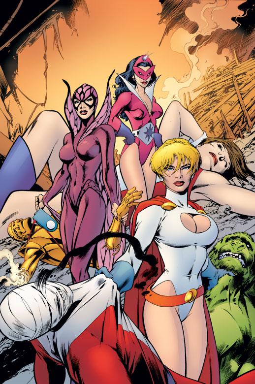 Powergirl en las manos de Alan Davis
