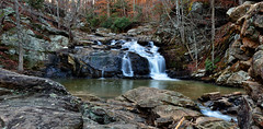 COCHRAN MILL PANORAMA (Wolf Creek Carl) Tags: water waterfalls creeks river rocks forest southfulton cochranmill georgia outdoors