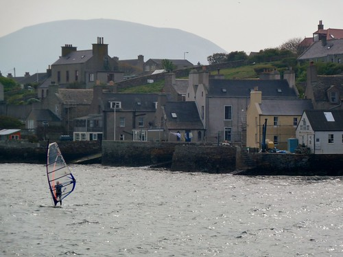 Windsurfing at Stromness Harbour