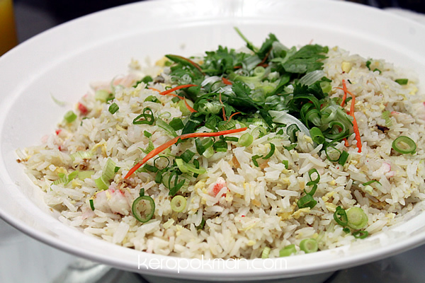 Crabmeat and Seafood Fried Rice