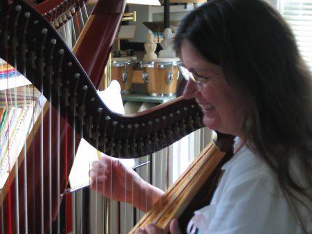 Robin's Harp Lesson
