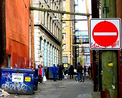 Skid Row Alley (Do Not Enter) (jelee_unleashed) Tags: people lines vancouver photo garbage alley homeless poor story donotenter skidrow chinatownalley