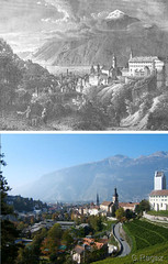 Chur, 200 years Then and Now (gerag) Tags: switzerland chur thenandnow graubnden grisons einstundjetzt