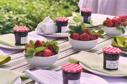Strawberry Centerpieces by elseachelsea.
