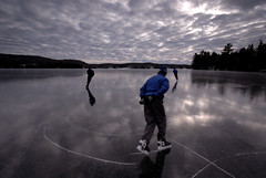 Three Skaters (Peter Bowers) Tags: winter lake snow ontario canada cold ice nature water landscape frozen photo frost natural outdoor skating frosty skate naturalbeauty peterbowers outdoorphotography peterbowersphotography cutetukusp