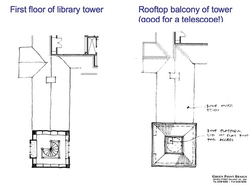 library wing redesign (top floors)