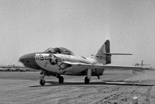 Warbird picture - Grumman-F9F-8-Cougar--July-1957