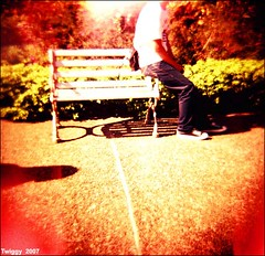 time for park !! (Twiggy Tu) Tags: park portrait sunlight 120 film brad lomo diana taipei lomopeoplelomolife