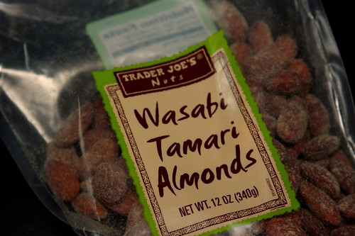 wasabi, tamari, almonds, heaven, spicy!