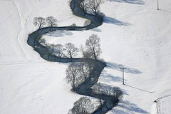 River Anlauter (Aerial Photography) Tags: winter white snow river germany landscape shadows aerial meander mywinners anlauter