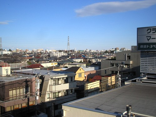 Towards Ikebukuro, from the spare room