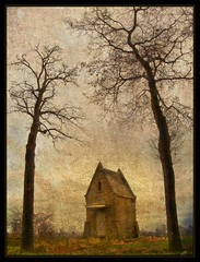Fairy tale (Dirk Delbaere) Tags: park travel autumn trees light panorama cloud sunlight house color colour tree green fall nature colors