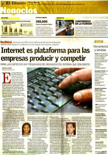 Internet es plataforma para las empresas producir y competir