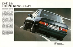 Reklame Mercedes-Benz 190 E 2.6 W201 (1987) (jens.lilienthal) Tags: auto old classic cars car vintage advertising mercedes benz 26 ad voiture advertisement e advert older autos werbung mb reklame 190 voitures anzeige w201
