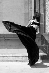 She could be happy (melancholik) Tags: blackandwhite dance ballerina dress mymessageinpicture