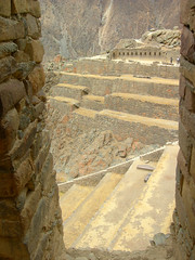 Inca terraces (dachalan) Tags: peru southamerica inca ruins terraces unescoworldheritagesite unesco worldheritagesite andes sacredvalley ollantaytambo nikoncoolpixp1 dachalan photofaceoffwinner elvallesagrado pfogold