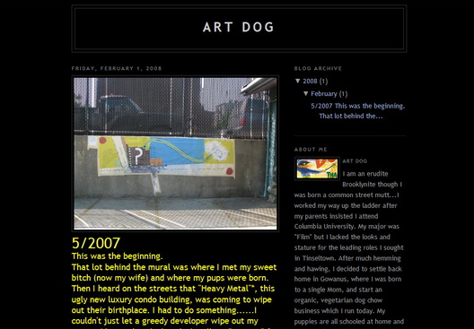 Art Dog Blog