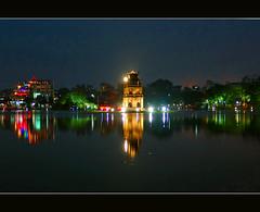 Vietnam - Hanoi (Megara Liancourt) Tags: lake nightshot vietnam hanoi sonydscf828 hoànkiếmlake colorphotoaward life~asiseeit