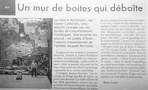 Bruno Caubet - Un mur de boîtes qui déboîte