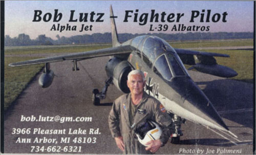 Bob Lutz business card