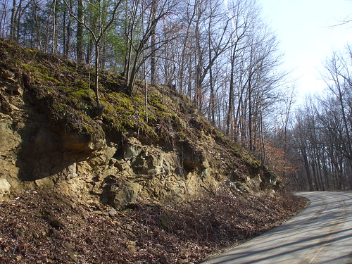 Rock face on Old 37