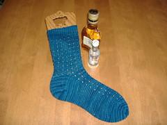 Porthole Rib Sock - Variation Progress 1