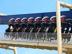Going up..... (Dre007) Tags: park gardens canon tampa fun fast roller theme coaster busch s5 montu