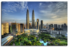 KLCC 7:36am (DanielKHC) Tags: city skyline sunrise dawn nikon bravo searchthebest petronas towers center malaysia kuala hdr klcc lumpur d300 sigma1020mm firstquality photomatix tonemapped 7exp anawesomeshot danielcheong megashot danielkhc theperfectphotographer