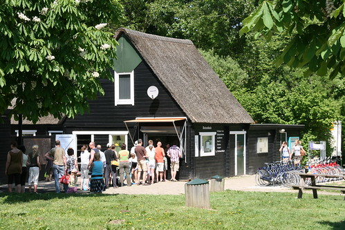 Boat house at Biesbosch visitor center
