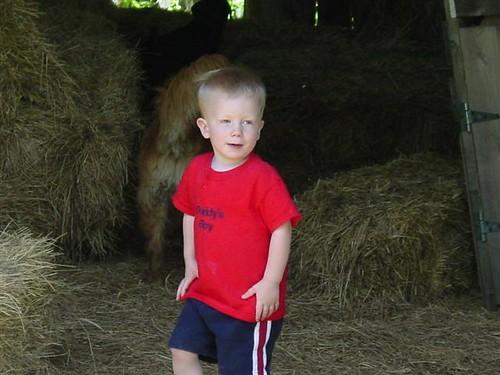 Nate in the haybarn